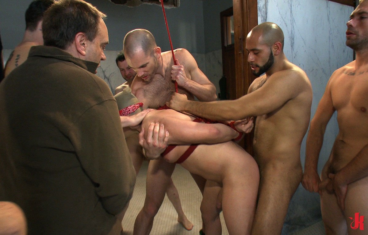 Young Hunks Brutal Gang Bang - youporngaycom