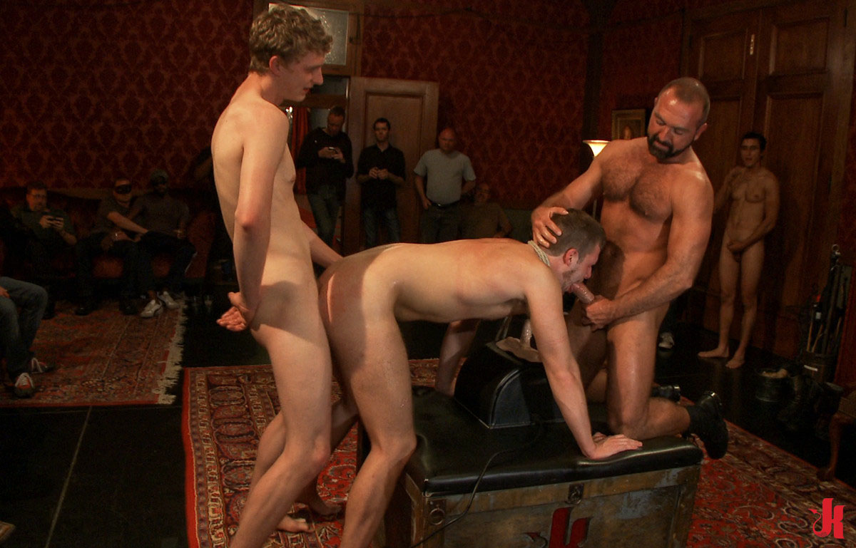 Bound In Public - Gay Stud Tortured In Bondage Group Sex -3976