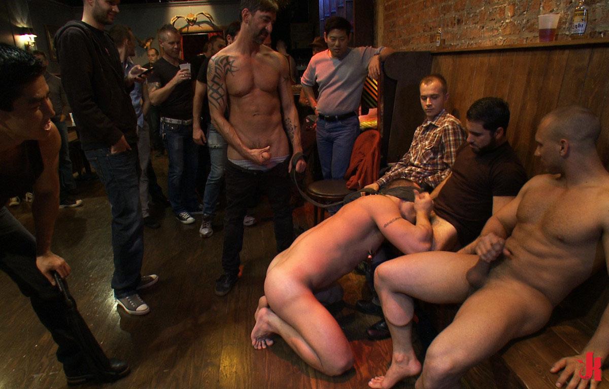 Big gay cock gangbang